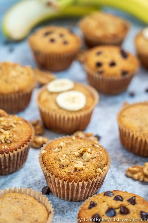 low carb banana bread muffins
