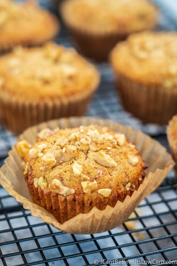 Keto Banana Muffins with almond flour