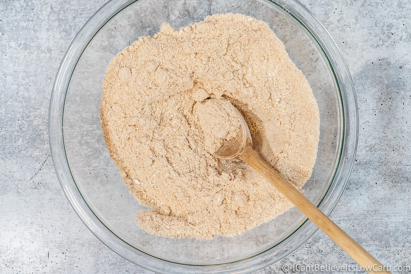 Mixing Keto Banana Muffin dry ingredients together