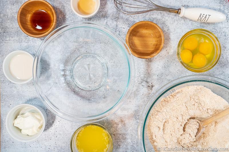 Keto Banana Muffins wet ingredients