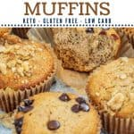 Low Carb Banana Muffins with almond flour Pinterest pin
