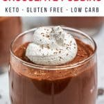 Sugar Free Keto Chocolate Pudding Pinterest