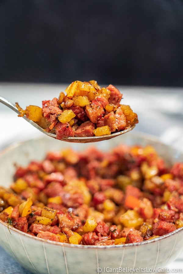 Spoonful of Keto Corned Beef Hash