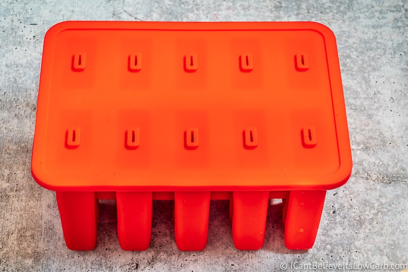 red Popsicle mold