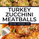 Turkey Zucchini Meatballs pinterest pin 2