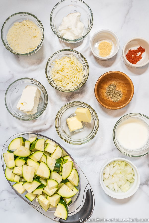 Ingredients for Zucchini Casserole