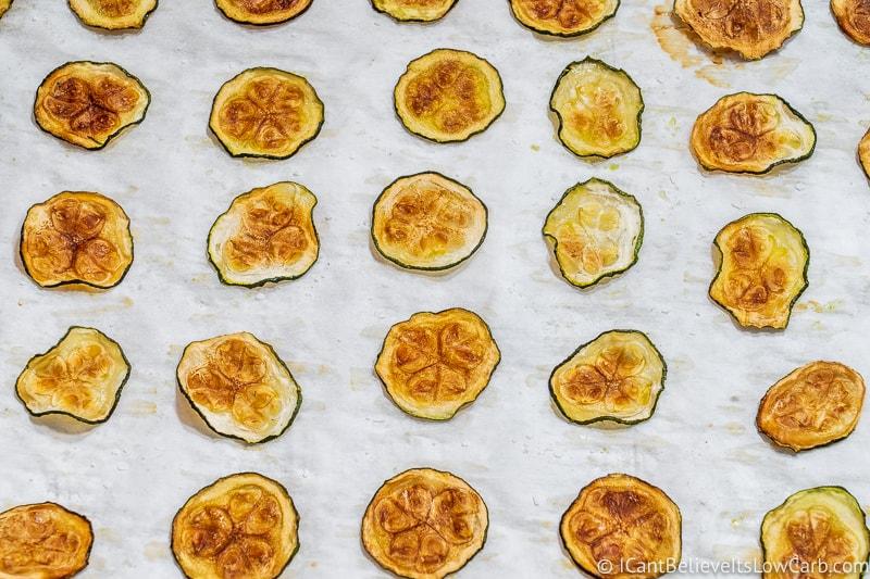 crispy Zucchini Chips on sheet pan