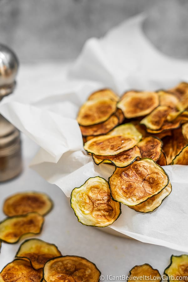Recipe for crispy oven baked Zucchini Chips