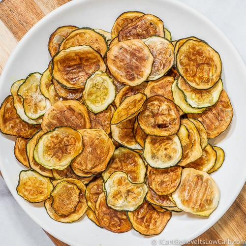 Plate of Zucchini Chips