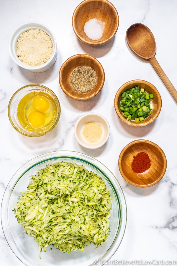 Keto Zucchini Fritters ingredients