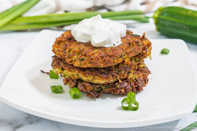 How to make Keto Zucchini Fritters