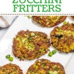 Keto Zucchini Fritters Pinterest pin
