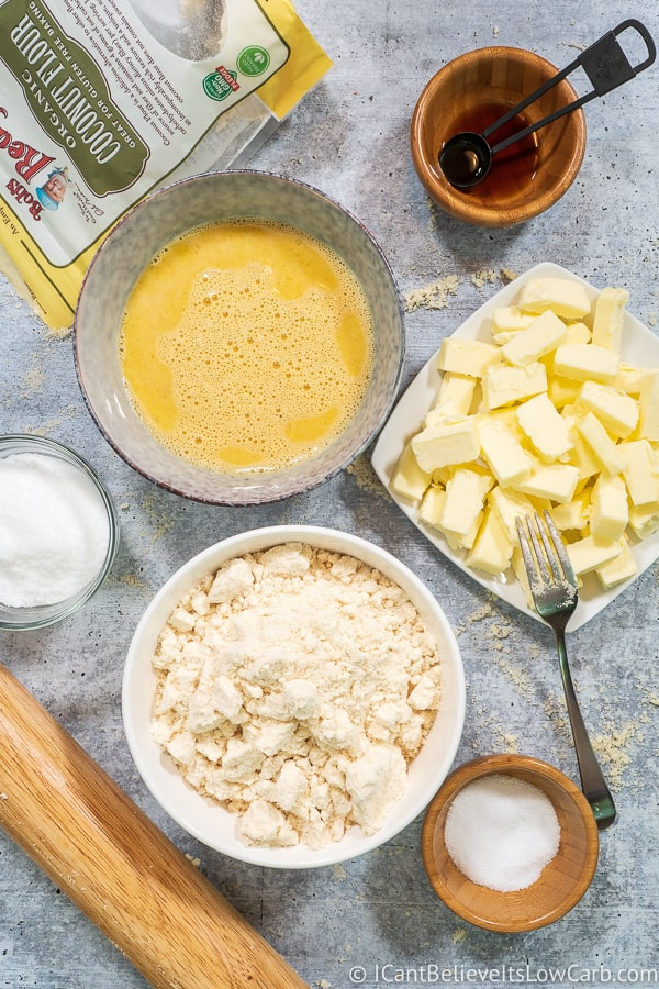 Ingredients for Coconut Flour Pie Crust