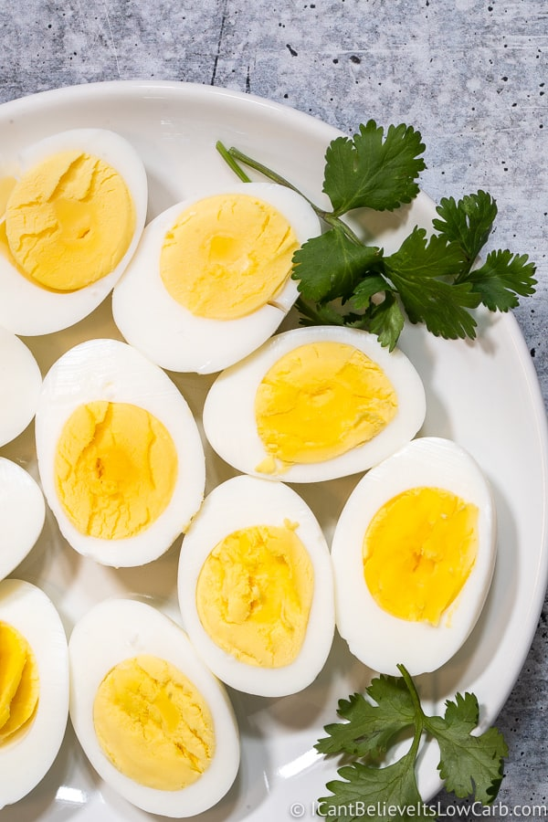 Boiled Eggs on a plate
