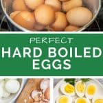 perfect hard boiled eggs Pinterest pin