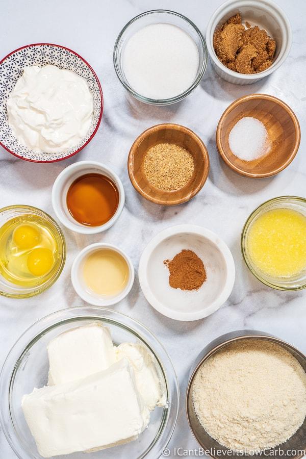 Keto Cheesecake ingredients