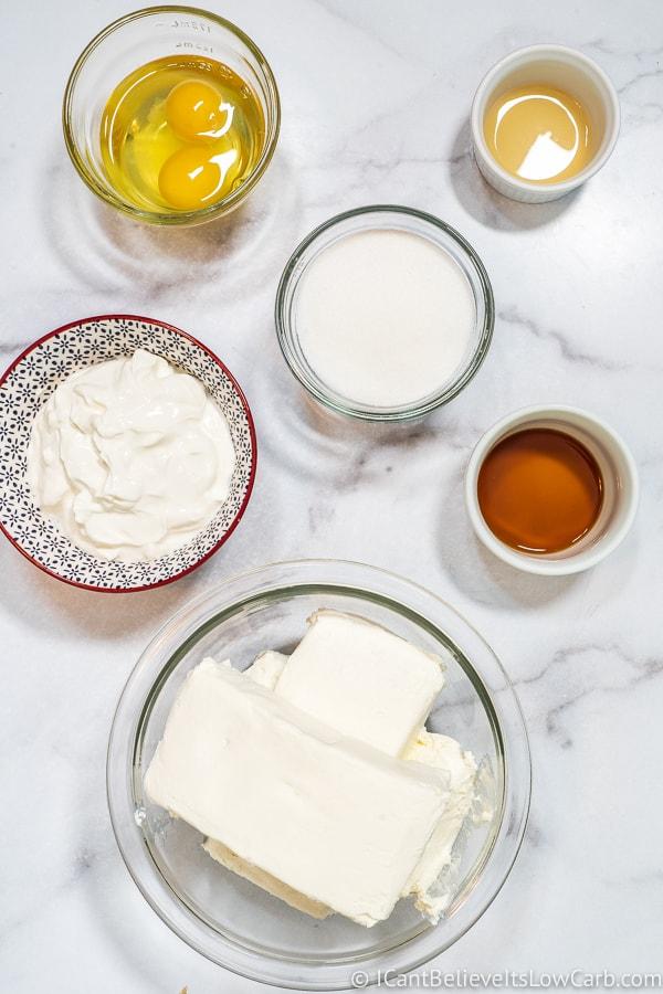 Keto Cheesecake filling ingredients