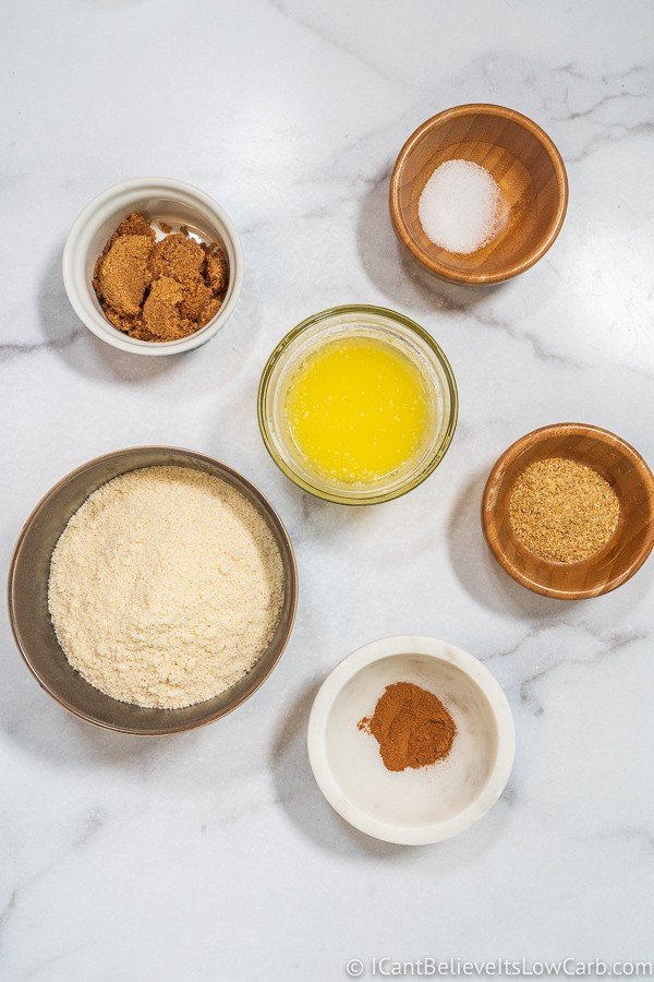 Keto Cheesecake crust ingredients