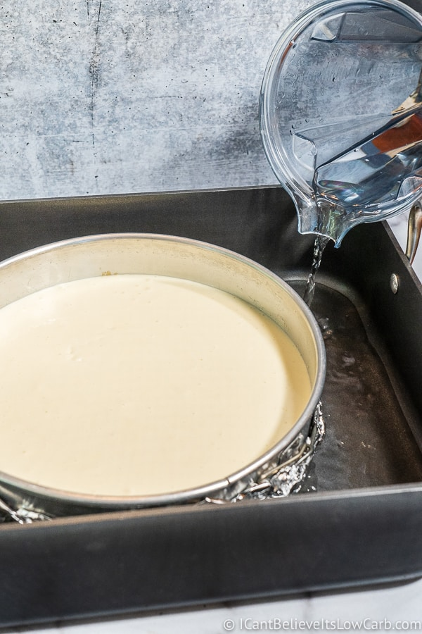 How to make a water bath for Cheesecake