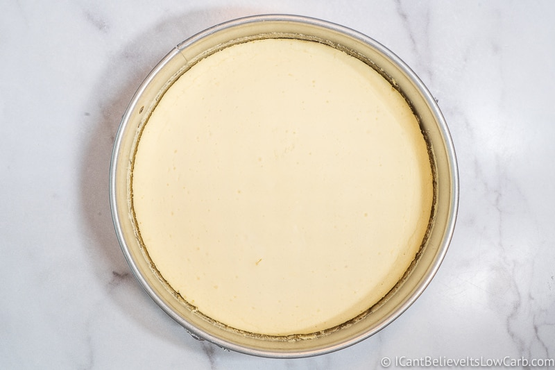 Freshly baked Low Carb Cheesecake