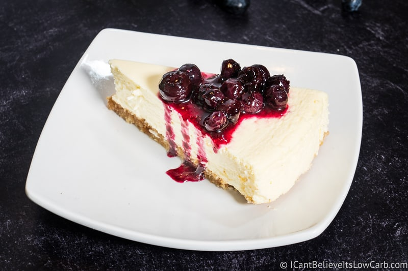 Keto Cheesecake recipe with blueberries