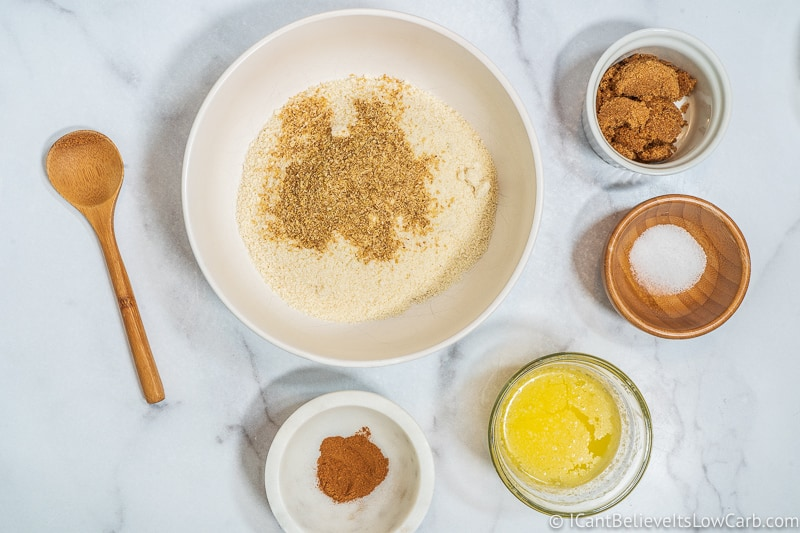 adding flaxseed meal for Keto Cheesecake