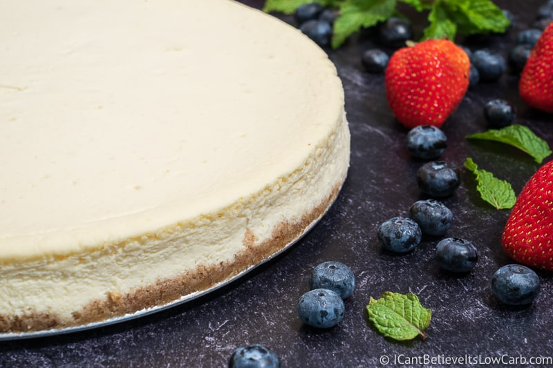 Chilling a Low Carb Cheesecake