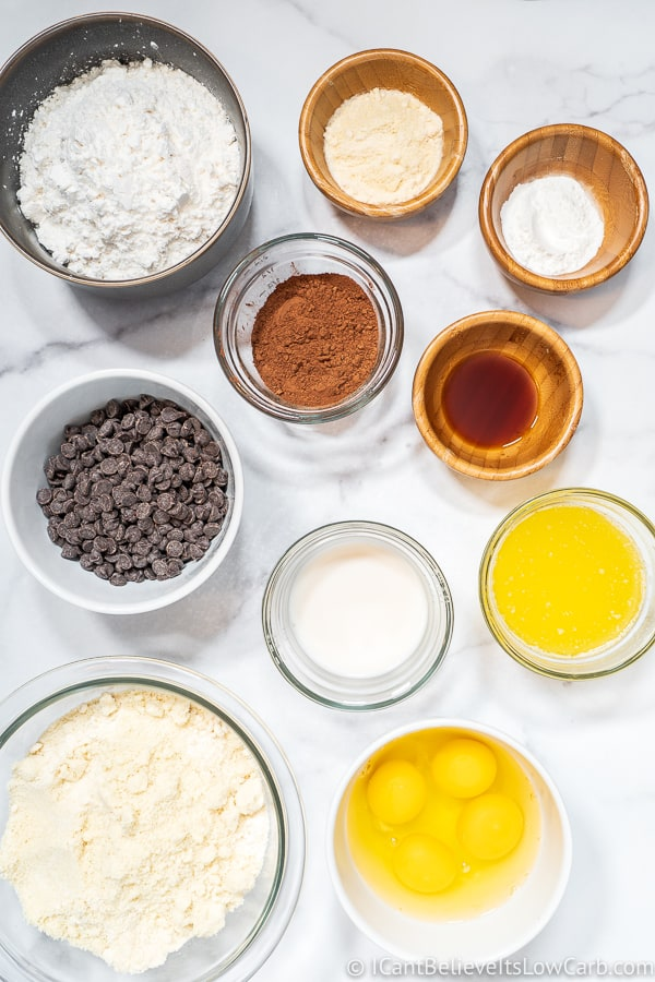 Keto Chocolate Muffin ingredients