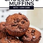 Double Chocolate Muffins pinterest pin