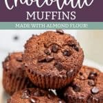 Keto Double Chocolate Muffins Pinterest