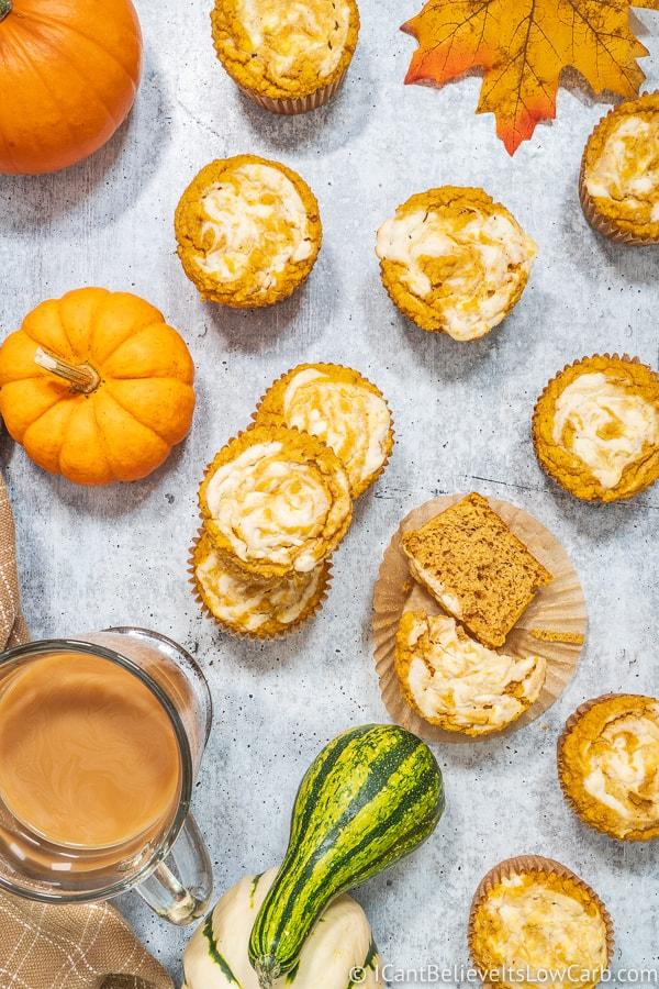 Keto Pumpkin Muffins with almond flour