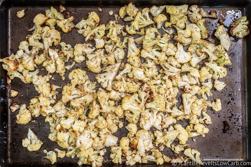 Roasted Cauliflower on sheet pan