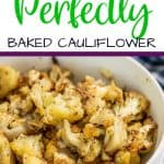 Easy Roasted Cauliflower Pinterest