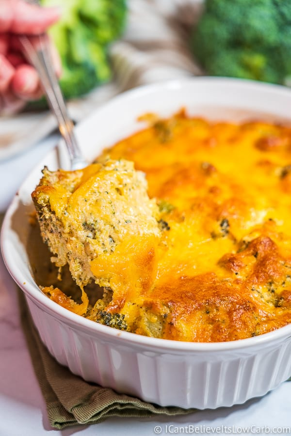 Cheesy Keto Broccoli Casserole