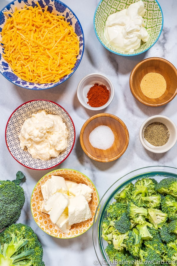 Keto Broccoli Casserole ingredients
