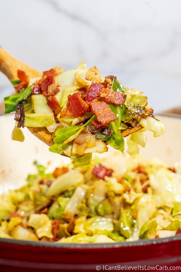 Keto Fried Cabbage