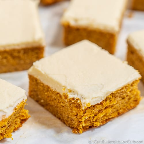 Keto Pumpkin Bars feature