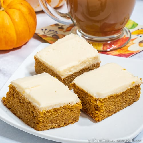 3 Keto Pumpkin Bars
