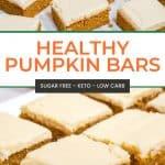 Healthy Keto Pumpkin Bars Pinterest