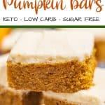 Sugar Free Pumpkin Bars Pinterest
