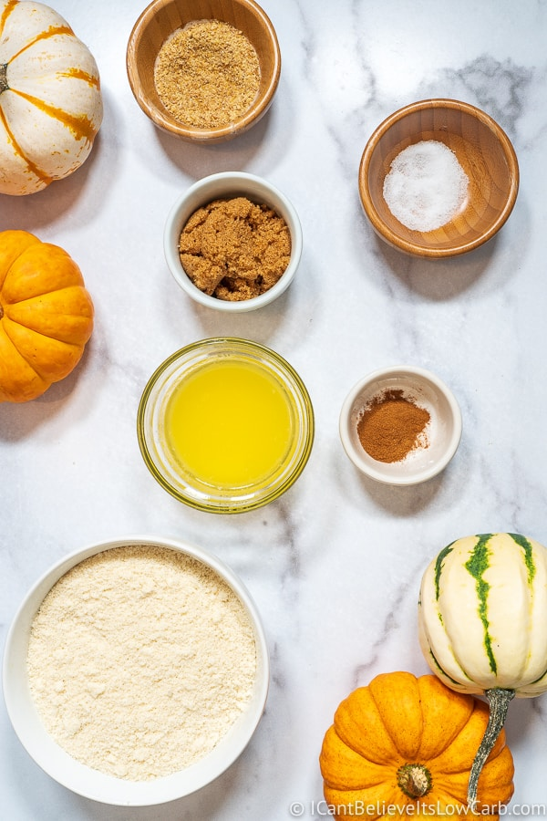 Keto Pumpkin Cheesecake ingredients