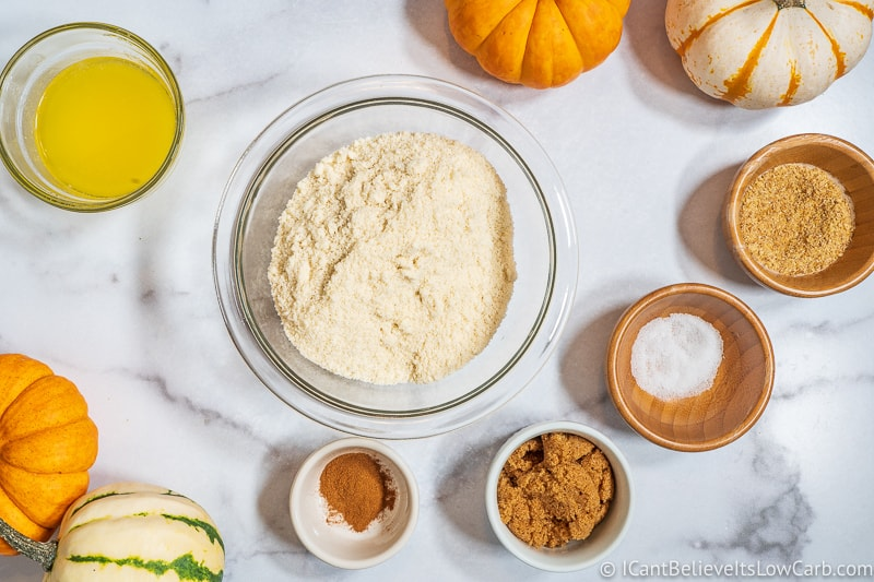 Dry Ingredients for Keto Pumpkin Cheesecake