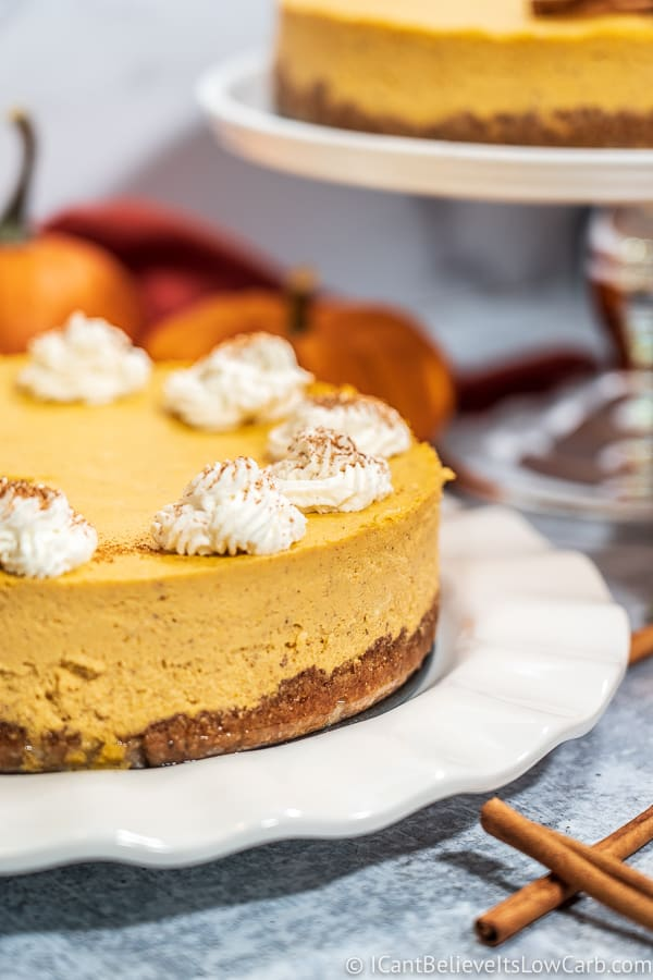 Yummy Keto Pumpkin Cheesecake