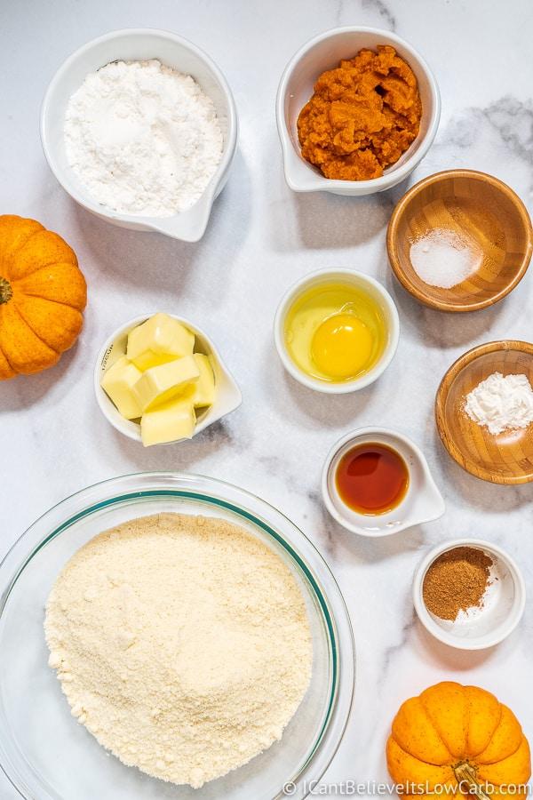 Keto Pumpkin Cookies ingredients