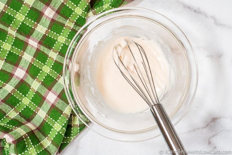 mixing sugar free vanilla icing
