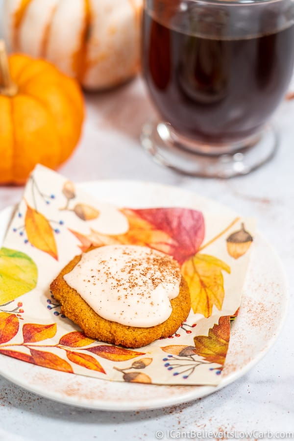 Keto Pumpkin Cookie on a white plate
