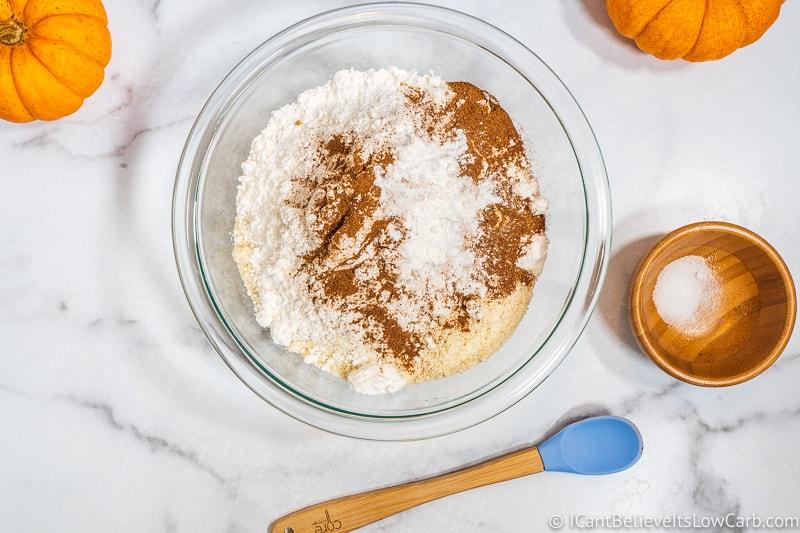 adding baking powder to Pumpkin Cookies