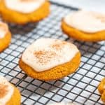 Keto Pumpkin Cookies with frosting