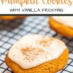 Low Carb Pumpkin Cookies with vanilla frosting