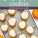 Keto Pumpkin Cookies vanilla icing Pinterest